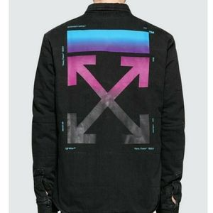 OFF WHITE Multi Color Arrow Denim Puffer Shirt